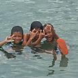 Lasten riemua Wakai Togian Islands