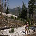 Lunta vuoristossa 4.7.08, Yellowstone