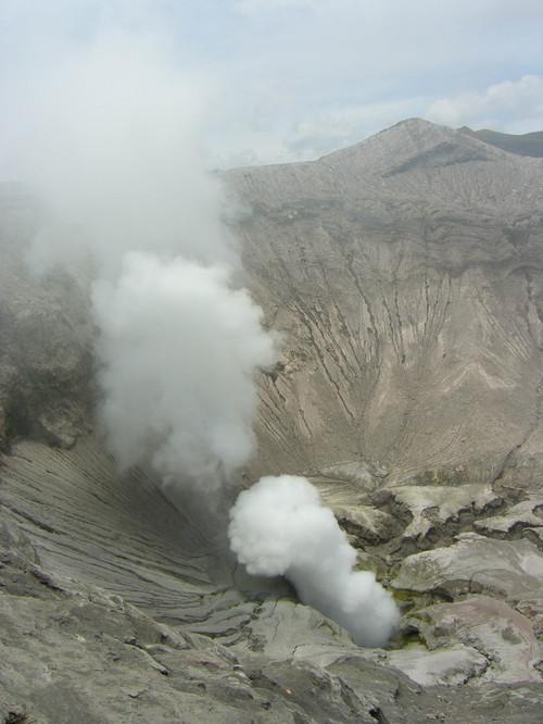 Näkymä kraateriin Bromo