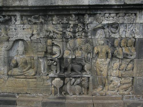 Yksityiskohtaa Borobudur Temppeliltä