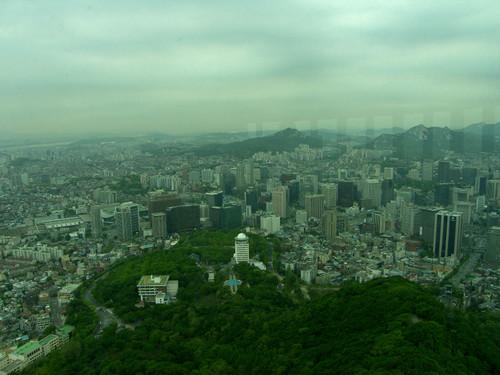 Näkymää N Seoul Towerista