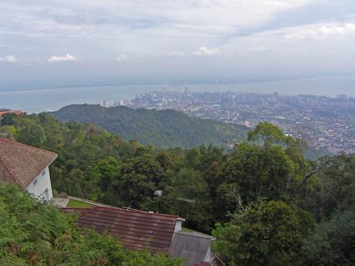 Georgetown Penang Hilliltä nähtynä