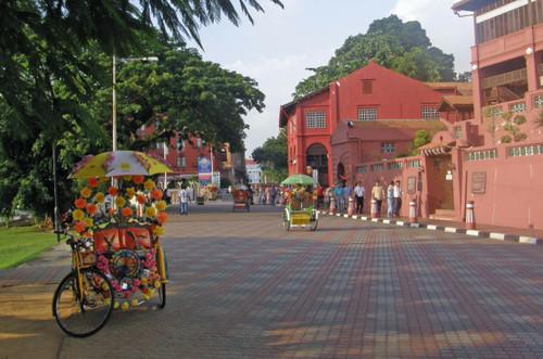 Näkymää vanhasta kaupungista Melaka
