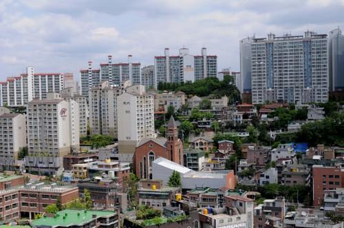 Näkymää parvekkeeltamme,  Seoul